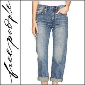 Free People Boyfriend Distressed Jeans 29